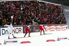 Oslo - 24 febbraio: Campionato nordico del pattino del mondo di FIS, Immagini Stock