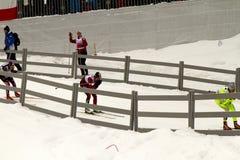 Oslo - 24 februari: Het Noordse Kampioenschap van de Ski van de Wereld FIS, Royalty-vrije Stock Foto's