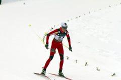 Oslo - 24 februari: Het Noordse Kampioenschap van de Ski van de Wereld FIS, Stock Fotografie
