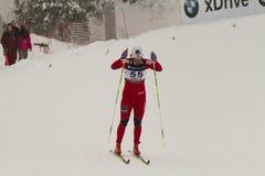 Oslo - 24 februari: Het Noordse Kampioenschap van de Ski van de Wereld FIS, Royalty-vrije Stock Foto