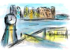 Oslo abstract illustration. Abstarct illustration of city on multicolor background Royalty Free Stock Photo