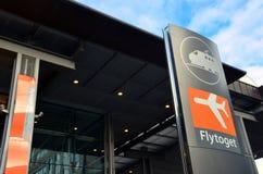 Oslo Airport Express drevstation Arkivbilder