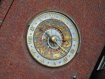 Oslo Astronomic Clock. Astronomic Clock on the Oslo City Hall Building Royalty Free Stock Photo