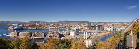 Oslo autumn Norway, downtown centrum royalty free stock photography