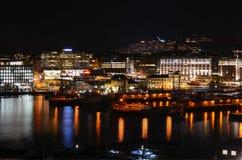 Oslo bij nacht Royalty-vrije Stock Foto