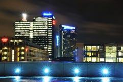 Oslo bis zum Nacht Lizenzfreies Stockfoto