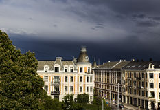 Oslo Building and dark clouds 3 Royalty Free Stock Images