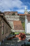 Castle and Akershus Fortress. Oslo - the capital of Norway. Clear sunny summer day. Castle and Akershus Fortress. Antique guns stock photos