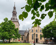 Oslo Cathedral is the main church for the Church of Norway Dioce Stock Photo