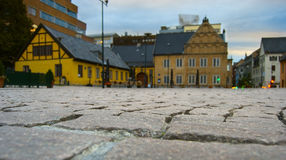 Oslo city center, empty street Royalty Free Stock Images