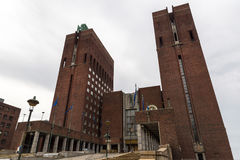 The Oslo City Hall. The construction started in 1931, but was pa Stock Image