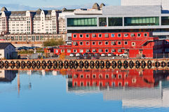 Oslo city harbor. At day  quite and calm Royalty Free Stock Photos