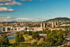 Oslo cityscape Royalty Free Stock Photography