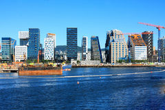 Oslo - cityscape is great attractions in a summer day.  Royalty Free Stock Photography