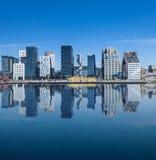 Oslo de stad in - Noorwegen Stock Afbeeldingen