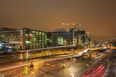 Oslo Downtown at night Royalty Free Stock Photo