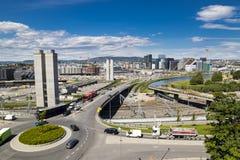 Oslo, du centre, Bjoervia Norvège images libres de droits