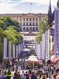 Oslo durante los juegos de Bislett Foto de archivo libre de regalías