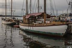 Oslo - eine Ansicht von Booten Lizenzfreies Stockbild