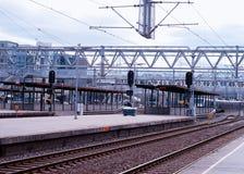 Oslo-Eisenbahntransportstations-Illustrationshintergrund Stockfotografie