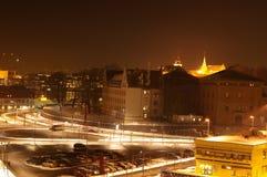Oslo em Noite Imagem de Stock Royalty Free