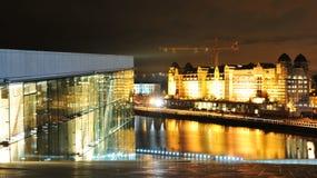 Oslo em a noite Imagem de Stock