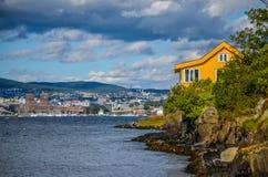 Oslo en stad i fjorden Arkivbild
