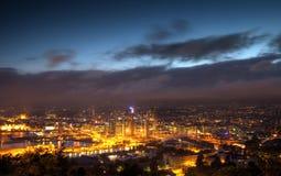 Oslo entro Night fotografia stock libera da diritti