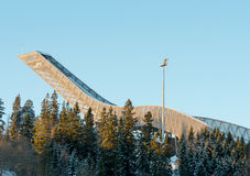 Saut à skis de Holmenkollen à Oslo Norvège Photographie stock libre de droits