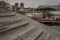 Oslo-fiordo, Aker Brygge Fotografia Stock