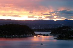 Oslo fiordu słońca Obrazy Stock