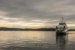 Oslo-Fjord bei Sonnenuntergang Stockbild