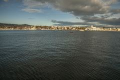Oslo - the fjord and its dark waters. Royalty Free Stock Images