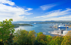 Oslo fjord Norway. View of Oslo fjord, Norway Stock Image