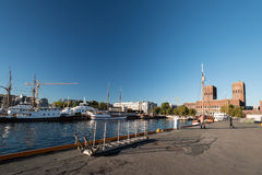 Oslo fjord with Oslo City Hall Stock Photography
