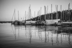 Oslo - fjorden och marina royaltyfria foton