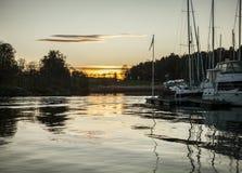 Oslo - fjorden - stål som vatten Fotografering för Bildbyråer
