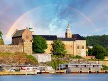 Oslo, fuerte de Akershus, Noruega fotografía de archivo