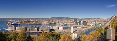 Oslo höst Norge, i stadens centrum centrum royaltyfri fotografi