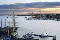 Oslo harbor Stock Image