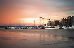 Oslo harbor Stock Photos