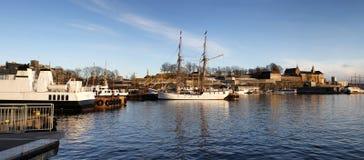 Oslo harbor Royalty Free Stock Image