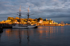 Oslo harbor. An old ship in Oslo harbor, Norway royalty free stock image