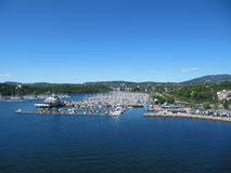 Oslo harbour. One of oslo's many harbours royalty free stock photography