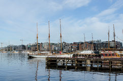 Oslo harbour Royalty Free Stock Photos