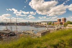 Oslo Harbour stock image