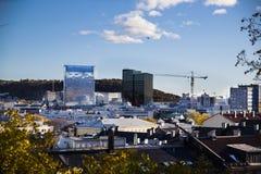 Oslo ist ein Stadtbezirk, sowie das Kapital und die meiste dicht besiedelte Stadt in Norwegen Lizenzfreies Stockbild