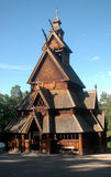 Oslo. JUNE 2010 - OSLO: a wooden church in Olso, Norway Stock Photography