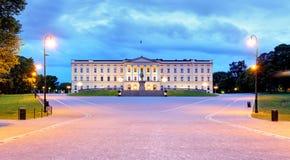 Oslo - Koninklijk paleis, Noorwegen Stock Afbeelding