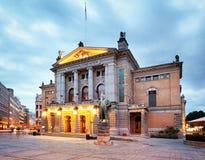 Oslo - Krajowy teatr, Norwegia obrazy stock